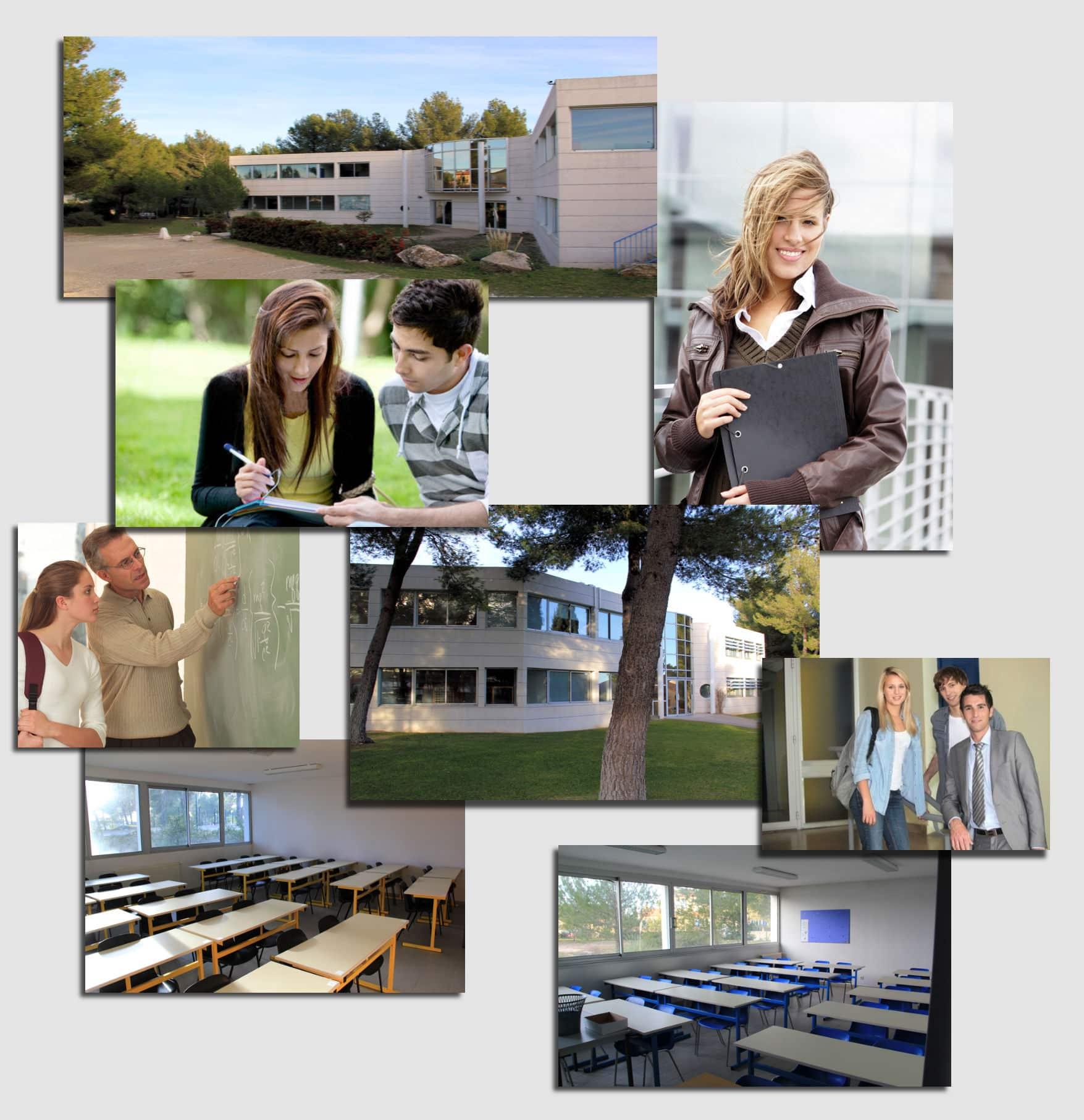 le cadre de l'école de commerce Idelca à montpellier