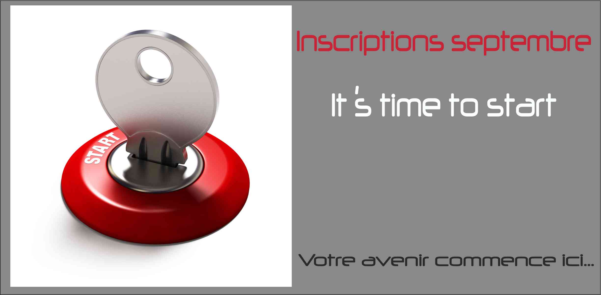 Inscription septembre BTS Bachelor Master